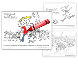 Stargold the Food Fairy Colouring Sheets