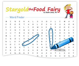 Stargold the Food Fairy Word Finder
