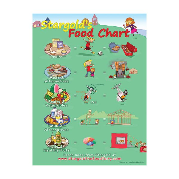 Food Chart Classroom Poster 18×24 in