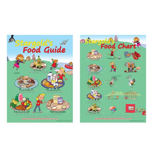 Food Guide & Chart Classroom Poster 18×24 in